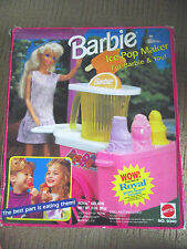 VINTAGE BARBIE 1992 ICE POP MAKER STAND PLAYSET / MATTEL 9340