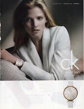 Publicité Advertising 2012  Montre CALVIN KLEIN  joaillerie bijou collection
