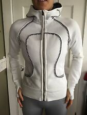 LULULEMON Size 4 Scuba HOODIE Zip Up Limited Edition Jacket Convert Pillow White