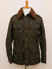 NEW Ralph Lauren Black Label Olive Green Military Winter Fur Trim Jacket Coat M