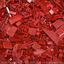 LEGO 1lb DARK RED Bulk Pound Lot-SANITIZED-PAIRS MATCHED-Brick Piece Part Random