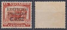 *EL SALVADOR*   2c on 50c,   Used