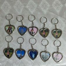 WEEK END SALE! 10 pcs Silver Heart Keychain - Insert Photo Picture Frame Keyring
