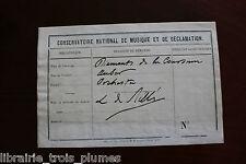 ✒ P.A.S. Laurent de Rillé compositeur pour partitions de Daniel AUBER 1