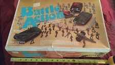 Vintage Sears MPC Battle Action Plastic Army Soldiers Playset With Extras