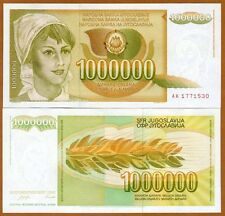 Yugoslavia, 1000000 (1,000,000) Dinara, 1989, Pick 99, UNC