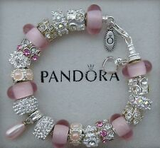 Authentic Pandora Bracelet Genuine Swarovoski Pearl~Pandora Hinged Gift Box inc