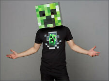 "Minecraft 12"" Creeper Cardboard Head Mask Box Cosplay Costume Halloween Licensed"