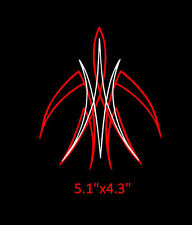 Pinstripe pinstriping custom motorcycle vinyl decal hot rod