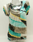 New! Style&co. Printed Short Sleeve Smocked Peasant Top Women's Small