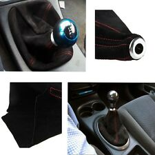 UNIVERSAL RED STITCH BLACK SUEDE MANUAL/AUTOMATIC SHIFTER SHIFT GEAR BOOT COVER