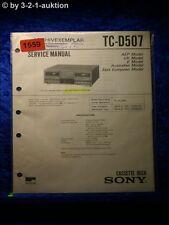 Sony Service Manual TA D507 Amplifier (#1559)
