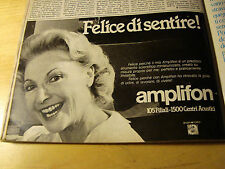 PUBBLICITA' ADVERTISING WERBUNG 1986 AMPLIFON (G47)