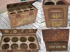 WWII british 25pdr C206 shell case ammuntion box  with rack