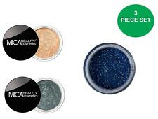 Micabeauty Eye Shadow #34 Harl Guin+#103 Sunset+Glitter Powder G22 Deep Sea
