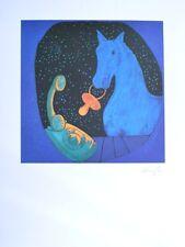 Jiri Georg Dokoupil Pferd mit Telefon Poster Kunstdruck Bild 80x60cm - Portofrei