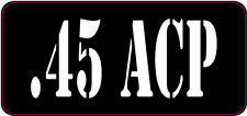 BLACK / WHITE .45 ACP AMMO CAN LABELS SET OF 4
