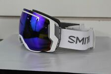 New 2017 Smith I/O7 Ski Snowboard Goggles IO7 White Green Sol-X Mirror + Bonus