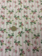 100% Cotton Fabric By Half Metre Cambridge Ro Gregg Pink Floral Stripes