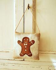 Coussin de porte pain d'épice ou accroche porte décoration de Noël
