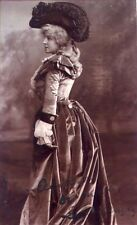 *LILLIE LANGTRY AMAZING 1903 14 X 10 PHOTOGRAPH AUTOGRAPHED TO HER COSTUMER*