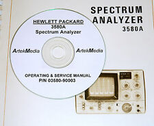 HP Hewlett Packard 3580A Spectrum Analyzer Ops & Service Manual w/schematics