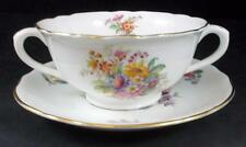 Coalport FRAGRANCE Cream Soup Bowl and Saucer Bone China 9054 GREAT CONDITION