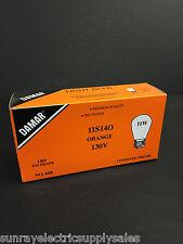 Damar 00060B 60B 11S14O 130V ORANGE MEDIUM BASE BULB -Box of (4)- (New in Box)