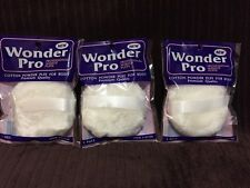 "Lot 3 Wonder Pro Powder Puff For Body  With Ribbon Handle,3.5"", Brand New,"