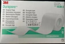 "Durapore Medical Tape, Silk Like Cloth, 2"" X 10 Yards, 3M # 1538-2 - BOX OF 6"
