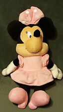 """MINNIE MOUSE Kids Preferred 14"""" Rattle Plush Pink Disney Security Cuddle Baby"""