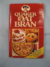 Quaker Oat Bran Hot Cereal Cookbook Vintage Book 1989 Quaker Oats Company (O2)