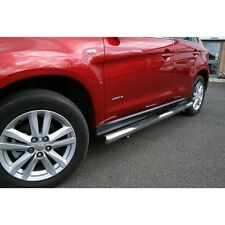 """Mitsubishi Asx Stainless Steel 3"""" Inch Side Bars With Step Pads Exterior Replace"""