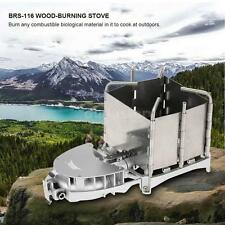 BRS OUTDOOR CAMPING BBQ FURNACE WOOD-BURNING STOVE CHARCOAL BURNER BLOWER X6T8
