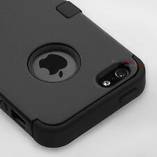 Black Hybrid Tuff Hard Rugged Heavy Duty Cover Case For Apple iPhone 6 4.7""