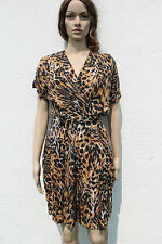 Vintage 1990s Leopard Print Playsuit All-in-One Grunge Romper Wrap Front 10-12