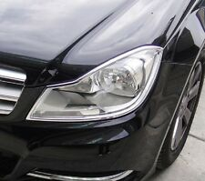 MERCEDES C CLASS W204 AND S204 2011 TO 2014 Chrome Headlight Trim