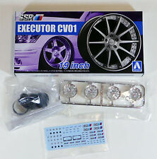 "Aoshima 1/24 SSR Executor CV01 19"" Wheel & Tire Set For Plastic Models 5252 (13)"