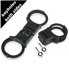 TCH852B Brand new nickel plated rigid folding handcuffs