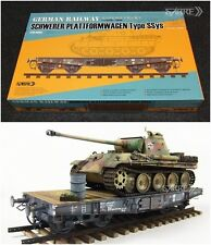 SABRE MODEL 35A02 1/35 GERMAN RAILWAY SCHWERER PLATTFORMWAGEN Type SSys