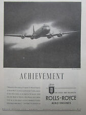 2/1947 PUB ROLLS-ROYCE AERO ENGINES AVRO TUDOR II AIRLINER ORIGINAL AD