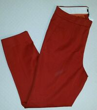 J. Crew Women Martie pant size 8 Rust #B0951 trouser cropped leg pockets