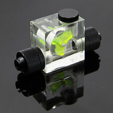 Water Cooling FlowMeter 3 Ways G1/4 Threaded W/ Compression Nozzle 3/8 ID 1/2 OD