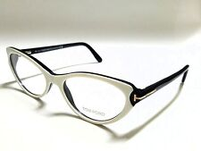 New Authentic Tom Ford TF5285 024 White/Black 53mm RX Eyeglasses