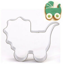 FD2919 Baby Carriage Stainless Steel Cookie Cutter Cake Baking Mould Biscuit ☆