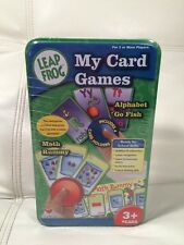 NEW 3+ LeapFrog - My Card Games Tin Set (Math Rummy and Alphabet Go Fish)
