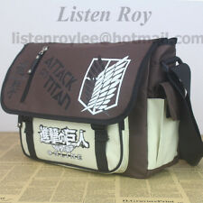 Attack on Titan Messenger  Shoulder Bags Satchel schoolbag Anime Manga Cosplay