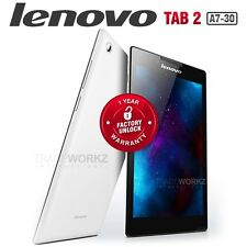 "New Unlocked LENOVO Tab 2 A7-30 White 7"" IPS 3G WiFi Android Cell Phone Tablet"