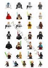 Star Wars Lego Edible Rice Wafer Paper Cupcake Cake Birthday Christening Topper