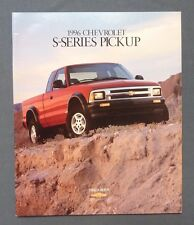 1996 Chevrolet S-Series S-10 Pickup Truck Dealer Sales Brochure~Chevy ZR2 SS